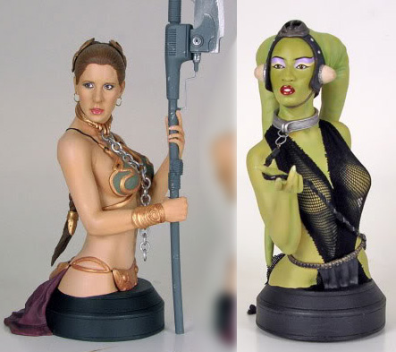 Jabba Oola Leia http://mightyjabba.com/2009/10/18/upcoming-gentle-giant-slave-leia-oola-mini-busts/