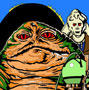 Vintage Jabba the Hutt Paint-By-Number Kit by Craft Master