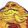 Vintage Jabba the Hutt and Gamorrean Guard Stickers