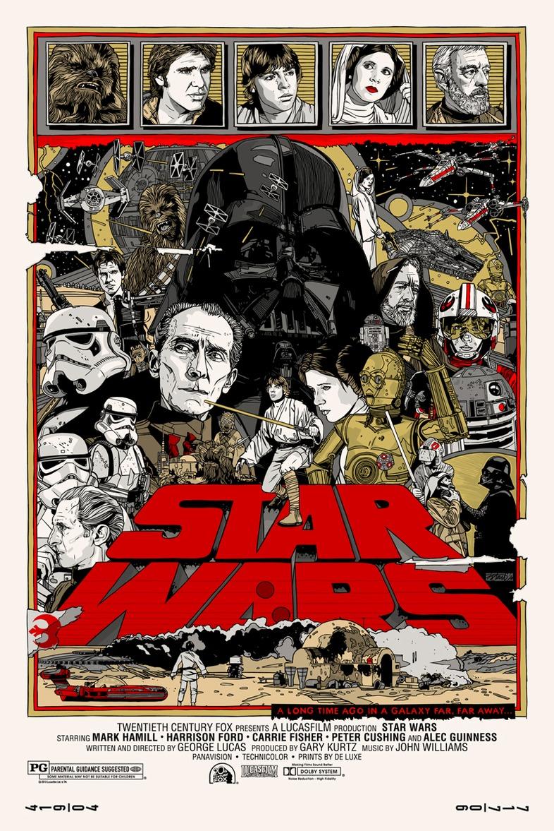Star Wars Trilogy Posters by Tyler Stout (Mondo/Alamo ...