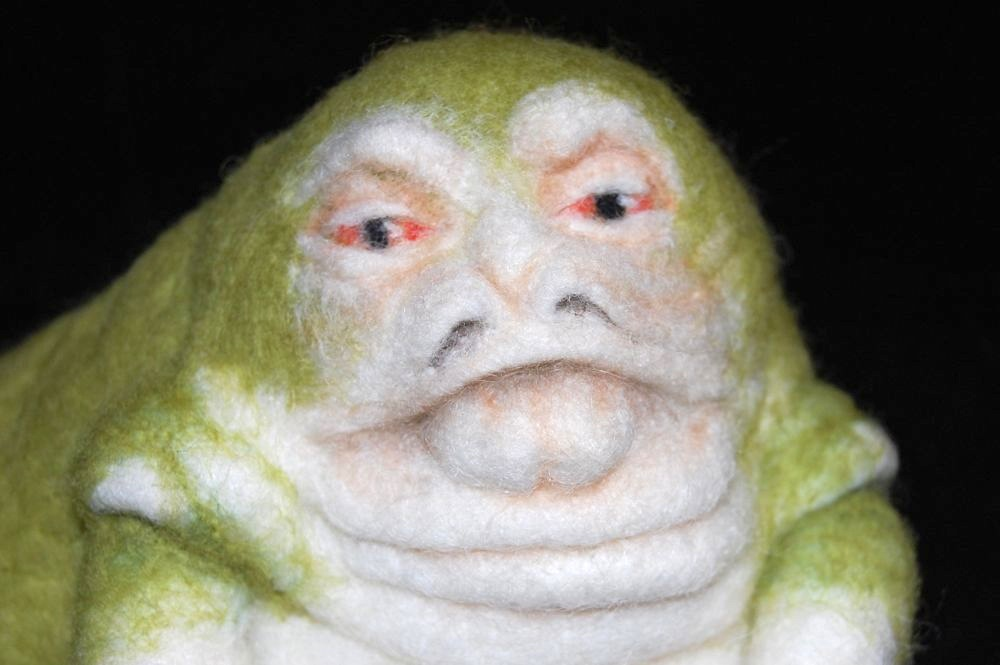 Needle felted jabba the hutt sculpture by fforfelt for Cute stuff for sale
