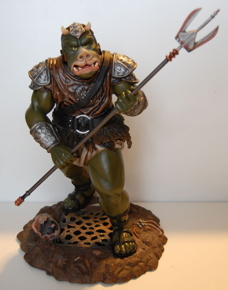 Gamorrean guard statue by legends in three dimensions mighty jabba 39 s collection - Star wars gamorrean guard ...