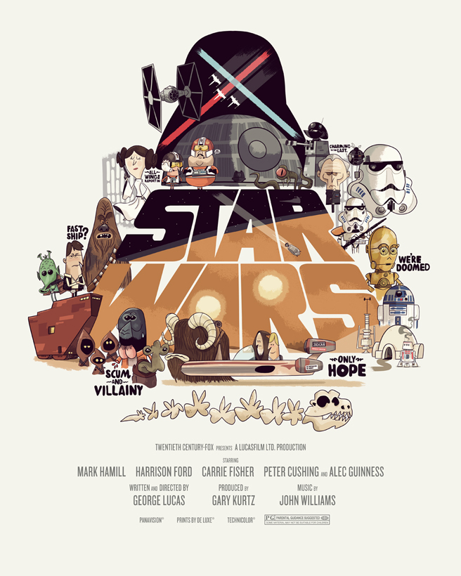 star wars movie posters by christopher lee mighty jabba s collection