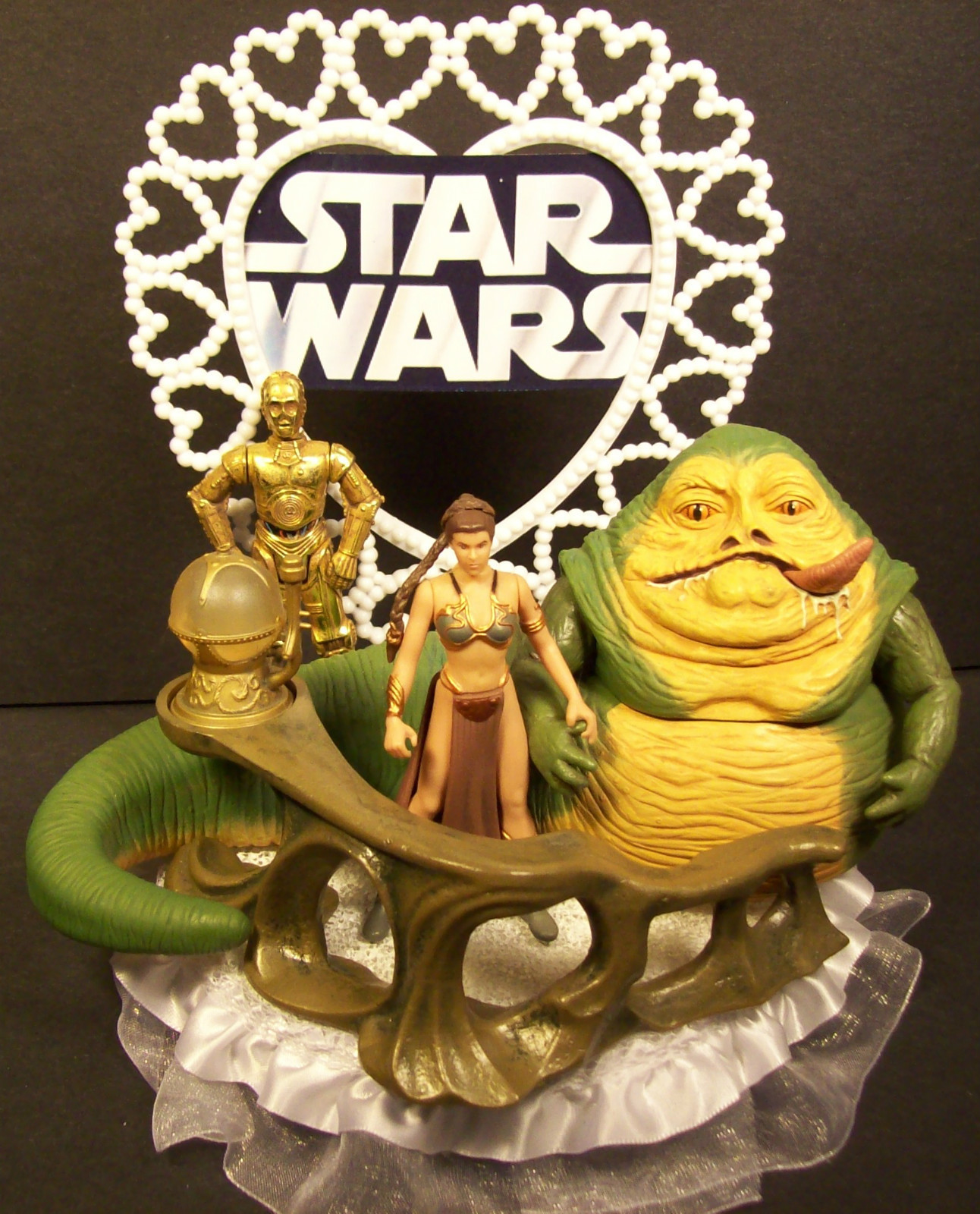 Jabba the Hutt & Slave Leia Wedding Cake Topper on Ebay | Mighty ...