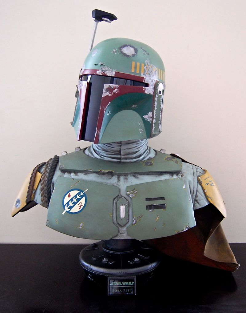 Boba Fett Life Size Bust By Sideshow Collectibles Mighty Jabbas