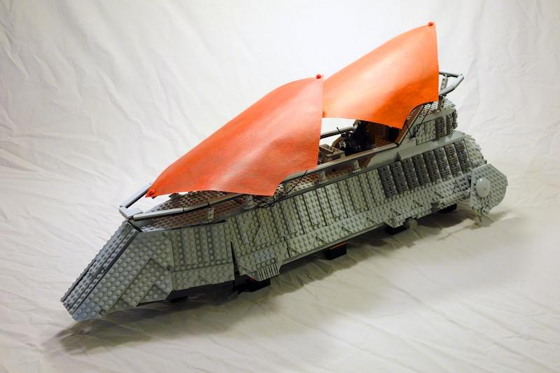 Custom Lego Jabbas Sail Barge Using Baronsats Instructions