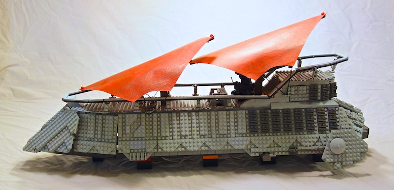 Custom Lego Jabbas Sail Barge Using Baronsats Instructions