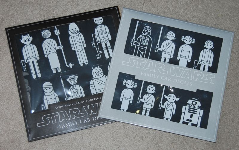 Star Wars Family Car Decals Scum And Villainy Booster Pack By - Star wars family car decals