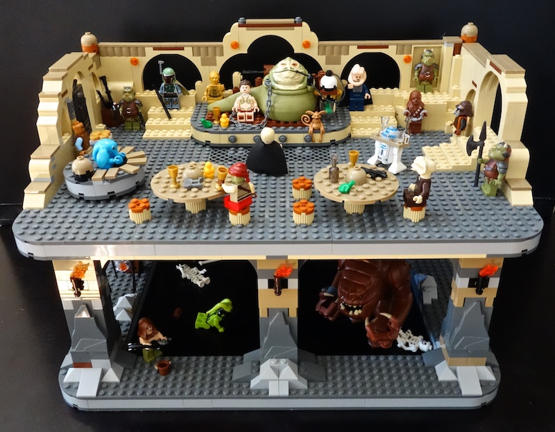 Custom Expanded LEGO Jabba's Palace and Rancor Pit ... Jabba The Hutt And Leia