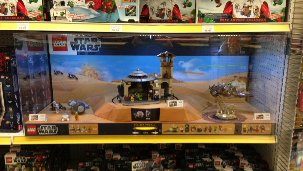 Store Display for LEGO Jabba's Palace, Desert Skiff and Droid ...
